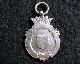 REDUCED Vintage Sterling Silver English Hallmarked Medal Watch Fob Engraved