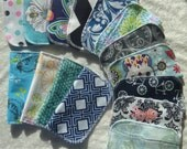 10 Adult Style Mixed Print, Cloth Napkins, Lunch Napkins, Reusable, Eco-Friendly