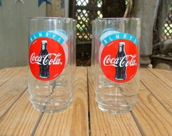 coca cola flair glass re creation glasses set of 2 by dables. Black Bedroom Furniture Sets. Home Design Ideas
