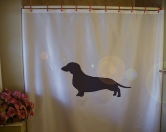 Superior Dachshund Shower Curtain Sausage Dog Breed Wiener Pup Canine Floppy Puppy  Bathroom Decor Kids Bath Curtains