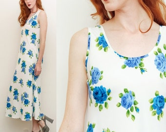 Floral Printed Maxi Dress Size S-L