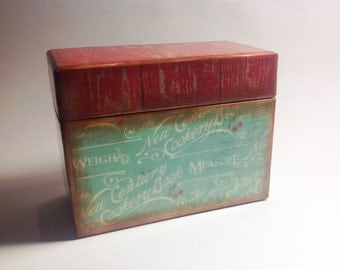 Recipe Card Box- Vintage Cooking
