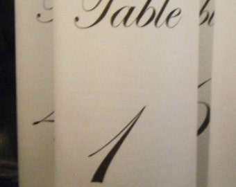 Table Number Luminaries - Set of 18- Ready to Ship