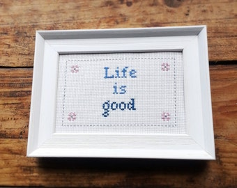 Custom cross stitch /  needlepoint sampler