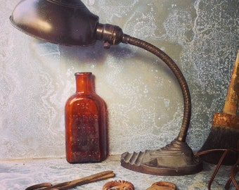 Gooseneck Lamp / Industrial Lighting / Desk Lamp / Industrial Chic / Gooseneck Lamp / Eagle