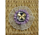 Satin and lace brooch