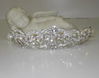 Vintage Rhinestone Bridal Tiara Crown