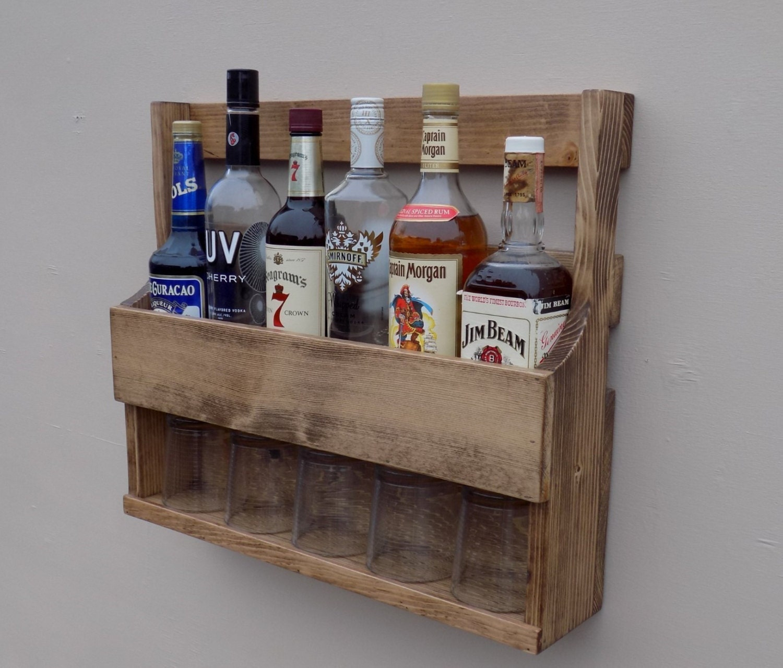 Details This Handmade Rustic Liquor Rack