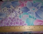 Large Flowers Purple Lavender Blue Cotton Fabric - Elizabeth Anne P&B Textiles