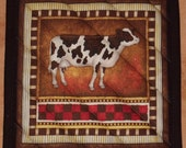"RJR-Happy Homestead-Pick a Print-1 (8"")-Quilted-Handmade-Insulated-Hot Pads-Pot Holders-Made in USA by MJ Quilts"