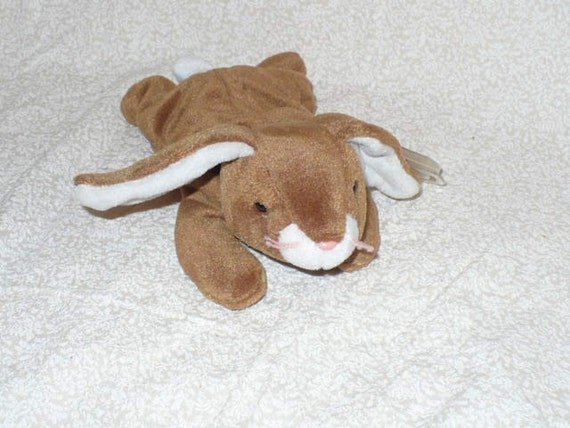 Brown Rabbit Stuffed Animal Children's Toy Rabbit Ty Beanie Babie Woodland Nursery