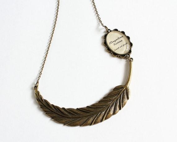 Wingardium Leviosa Feather Necklace