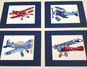 airplane nursery art - vintage airplane art print - children wall art decor - boy airplane art - baby boy nursery wall art - vintage aviator