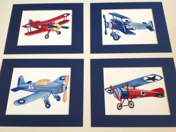 airplane nursery art vintage airplane art print children
