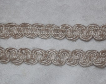 """Clearance 5 yards Natural Woven Jute Burlap Twine Rope Braid sewing craft Trim 1/2"""" wide"""