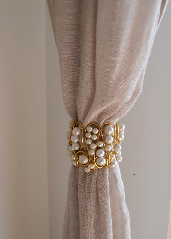 Decorative Curtain Tieback Gold And Faux By Milanchicchandeliers