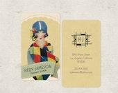 Art Deco Business Cards, Vintage Business Cards, Calling Cards, Vintage Calling Cards, Flapper, Custom Stationery, Stationary, Monogram