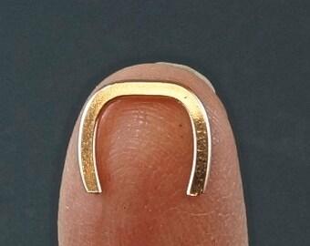 Septum Retainer 16 Gauge  . Yellow Gold. Rose Gold. Niobium. Sterling Silver. Argentium Sterling