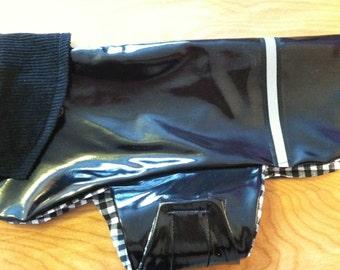 New Black Dog Rain Jacket, Dog Rainjacket, Dog Coat, Dog Jacket, Dog Jackets
