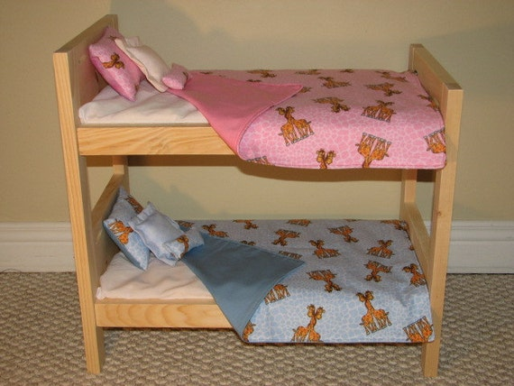 items similar to 15 twins bedding doll bunk bed bedding set giraffes pink blue boy and. Black Bedroom Furniture Sets. Home Design Ideas