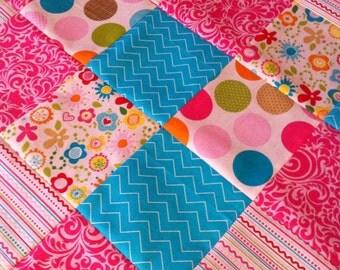 Minky Patchwork BABY Receiving Blanket