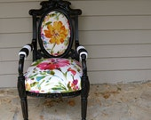 Vintage Upcycled  Upholstered Chair