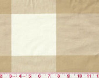 Buffalo Check Drapery Panels P Kaufmann Biscuit and Beige Buffalo Check