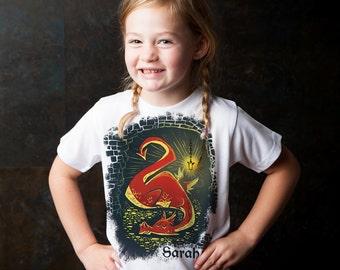 DRAGON Shirt, Personalized Boys Dragon, Hobbit Birthday T-Shirt