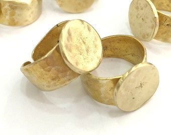 Raw Brass Adjustable Ring Findings (15mm Blank) G3407
