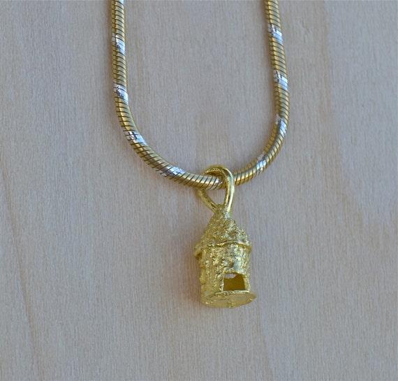 high karat gold charm mini necklace 22 karat gold gold. Black Bedroom Furniture Sets. Home Design Ideas