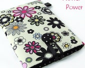 Floral Kindle Fire Case, Galaxy Tab Cover, iPad Mini Pouch, Nexus 7 Sleeve, Nook hd Case. Wales, UK. Flower Power.