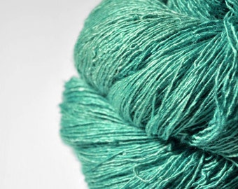 Chilly green sea - Tussah Silk Fingering Yarn