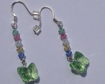 Peridot Butterfly Earrings