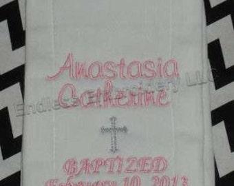 Baptism/Christening Burp Cloth