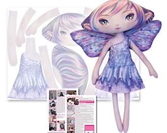 Opal - Printed Fabric Fairy Doll Pattern - DIY Darling
