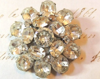 Vintage Rhinestone Brooch Pin Wedding Bridal Vintage Jewelry