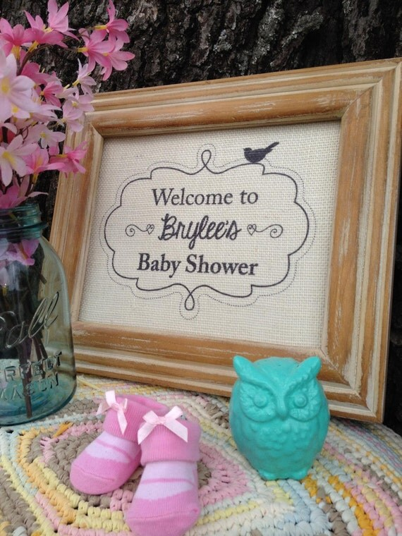 custom burlap baby shower welcome sign baby shower decor