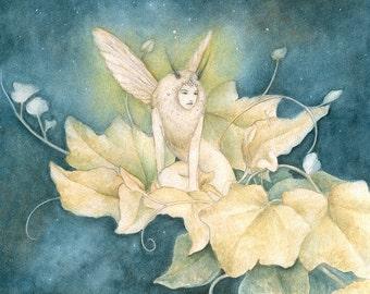 Moth Faery 6 x 8 Print