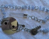 Blue Lace Agate and Crystal Quartz Peace Pendulum