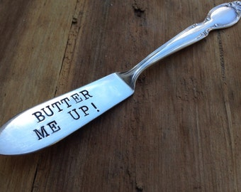 Vintage Silverware Butter Me Up Silver Plated Master Butter Knife
