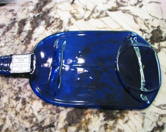 REDUCED!!! Extra Lg. Wine Bottle cheese/ Hors d'oeuvres Serving dish