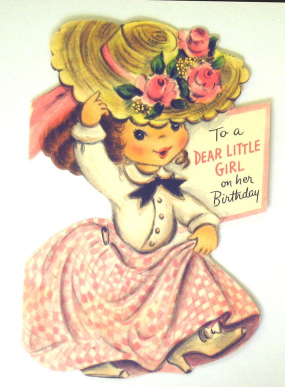 Vintage Birthday Card To a Dear Little Girl on Her Birthday – Little Girl Birthday Cards