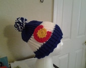 Hand knitted unisex colorada hat
