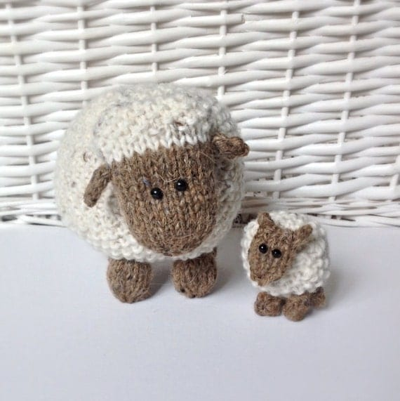 Moss the Sheep toy knitting patterns