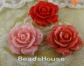 20%off 657-00-CA  2pcs Pretty Large Rose Cabochon with Hole, 34mm