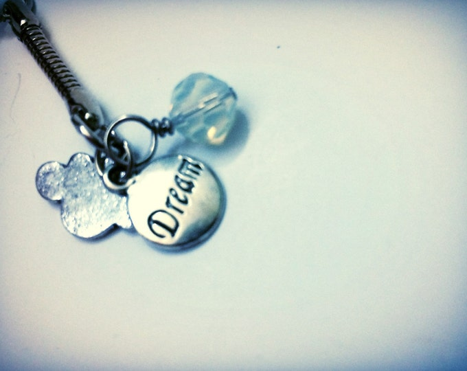 Graduation Gift Dream Themed keychain with Cloud charm and bead, one of a kind