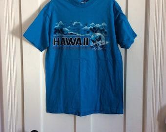 Vintage 1980's Hawaii Surfer souvenir t-shirt all cotton size Large