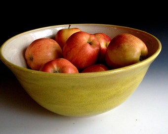 Serving bowl, Salad Bowl, Fruit Bowl, Stoneware Serving Bowl by Leslie Freeman
