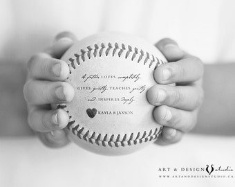 Personalized Gift for Dad, Baseball Print, Fathers Day Gift From Kids, Sports Decor, Stepdad Present Stepfather, Baseball Photo Gift