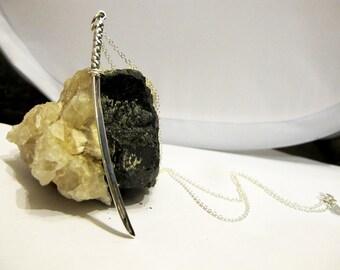 Sterling Silver Samurai Sword Necklace